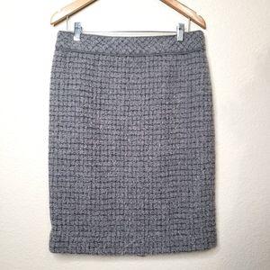 J. Crew No. 2 Pencil Skirt Wool Blend Skirt 8